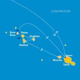 Carte Polynésie - Randonnées et lagons au Paradis