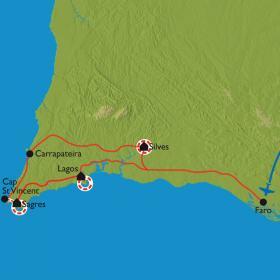 Carte Criques sauvages, monts et villages blancs d'Algarve