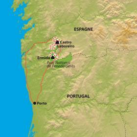 Carte Parc National Peneda-Gerês et Porto
