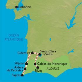 Carte Portugal, découverte de l'Algarve à vélo