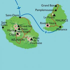 Carte îles des Mascareignes