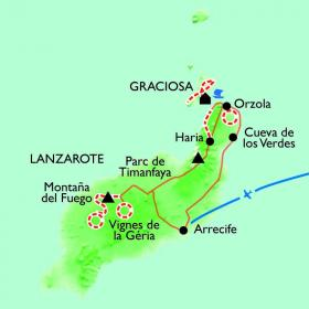 Carte Lanzarote, Soleil d'hiver