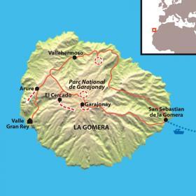 Carte La Gomera tout en douceur