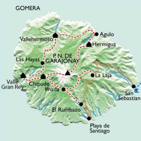 Carte La boucle de la Gomera en liberté