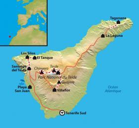 Carte Itinérance à Tenerife