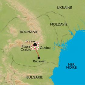 Carte Au coeur des Carpates de Transylvanie