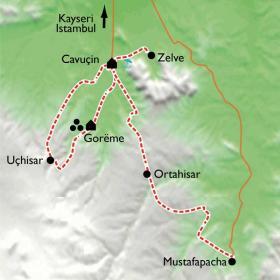 Carte Cappadoce, le royaume des Fées