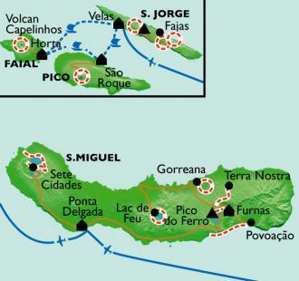 Carte Archipel  et  volcans