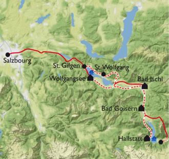 Carte Les lacs du Salzkammergut