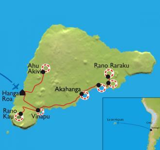 Carte L'île de Pâques