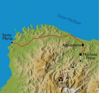 Carte La cité perdue des Tayronas