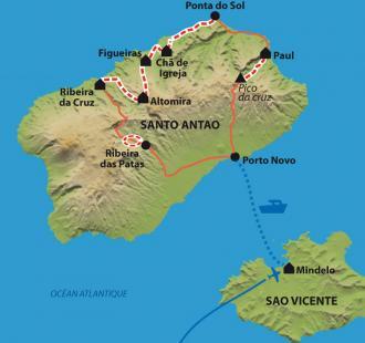 Carte Secrète Santo Antao
