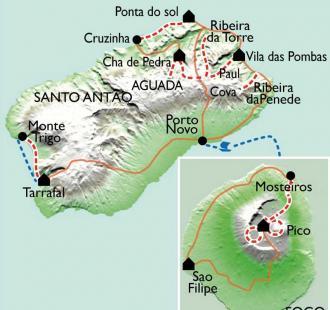 Carte De Fogo à Santo Antao