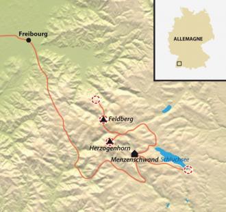 Carte Tour de la Haute Forêt Noire