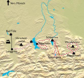 Carte Les Alpes Bavaroises