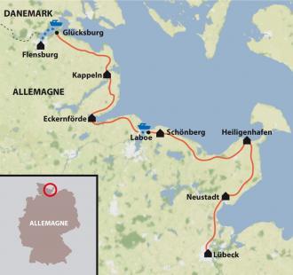 Carte La Mer Baltique à vélo
