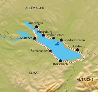 Carte Lac de Constance en famille.
