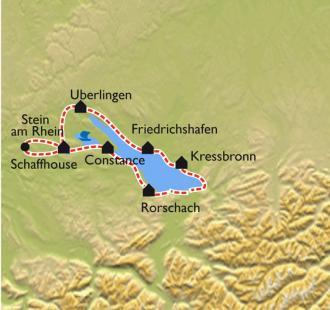 Carte Tour du Lac de Constance à vélo