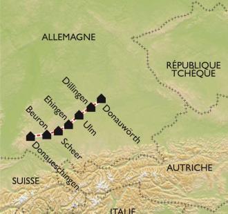 Carte La vallée du jeune Danube