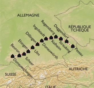 Carte Le Danube Allemand