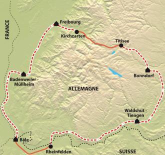 Carte Le tour de la Forêt Noire