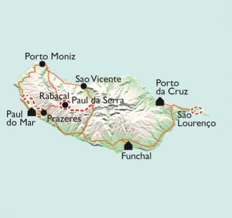 Carte Balades, Baignades et Balnéo à Paul do Mar