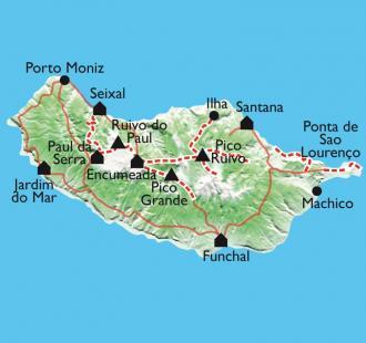 Carte La traversée de l'île.