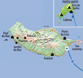 Carte Entre océan et montagne, découverte de l'île de Madère