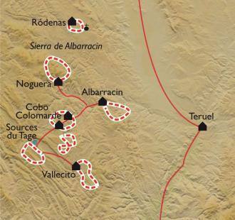 Carte Teruel et Albarracìn, les Monts Universels