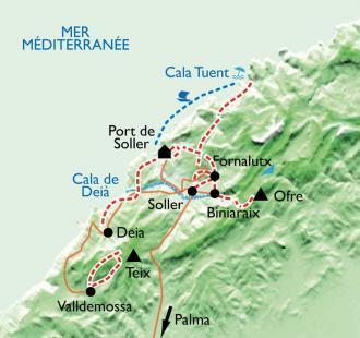 Carte Balades mallorquines à Soller