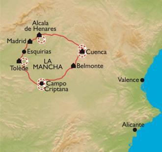 Carte Castille - La Mancha, sur les traces de Don Quijote