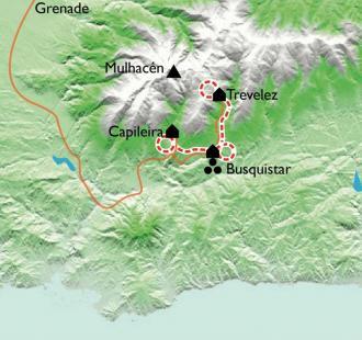 Carte Andalousie, Trésors de Grenade et merveilles des Alpujarras