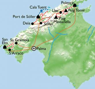Carte Baléares, la face cachée de Majorque