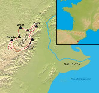 Carte Beceite et parc naturel Dels Ports, au pays des bouquetins