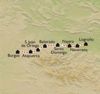 Carte De Logroño à Burgos, à petits pas