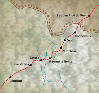 Carte De Saint Jean Pied de Port à Logroño