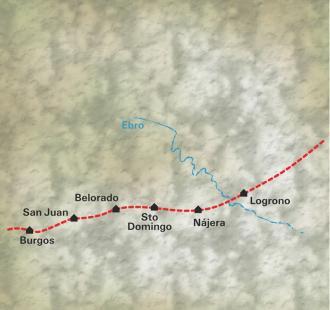 Carte De Logroño à Burgos