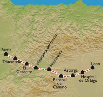 Carte De León à Sarria
