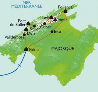 Carte Sierra et chemins de pierre
