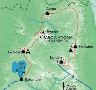 Carte L'Abyssinie et ses hauts plateaux