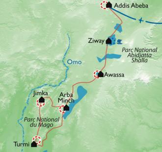 Carte Ethnies et safari