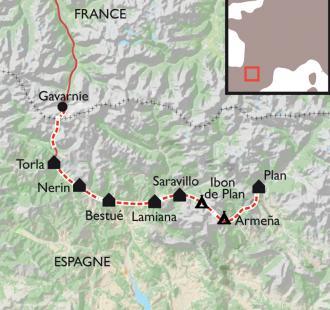 Carte Des canyons d'Ordesa au Cotiella, merveilles d'Aragon et du Mont Perdu