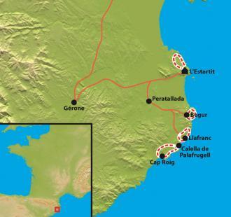 Carte Costa Brava en douceur, le paradis insoupçonné