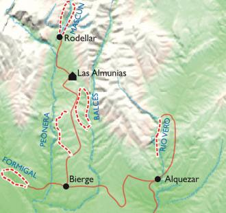 Carte Les canyons de la Sierra de Guara, Programme Aventure