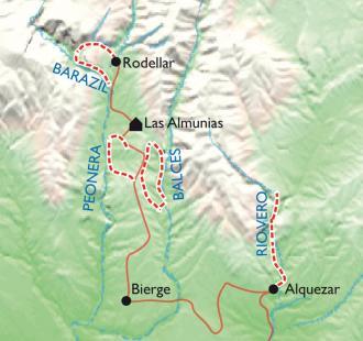 Carte Escapade canyoning, version découverte