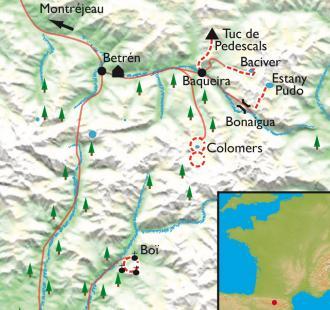 Carte Val d'Aran-Encantats, rando douillette