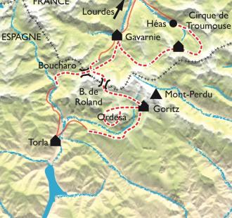 Carte Gavarnie Ordesa, cirques et canyons sans frontières