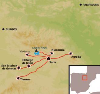 Carte Hablar, Andar y Vivir a la española, Immersion linguistique à La Rioja, berceau du castillan