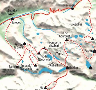 Carte Néouvielle, de lacs en sommets