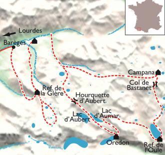 Carte Néouvielle, la ronde des lacs